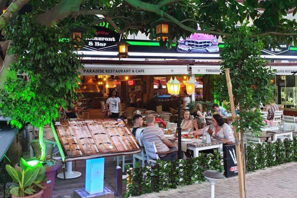 paradise restaurant in sarigerme