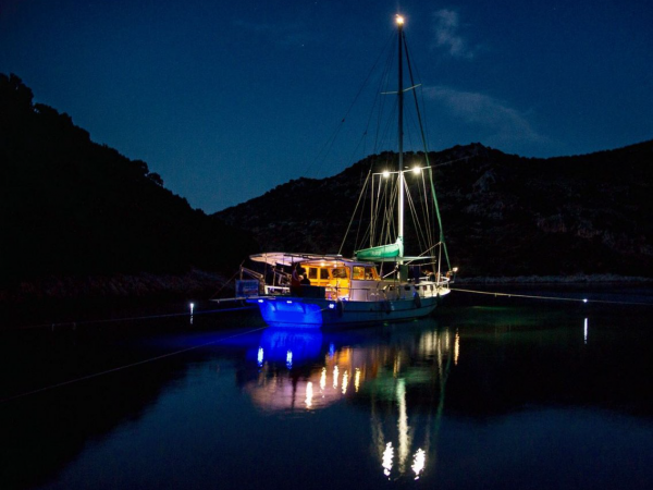 Night boat trip in sarigerme